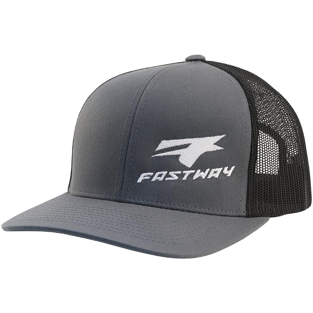 Trucker Snapback Hat - Black/Grey