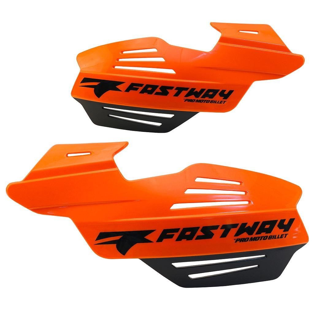 Replacement Flak Shield - Orange & Black with Black Fastway